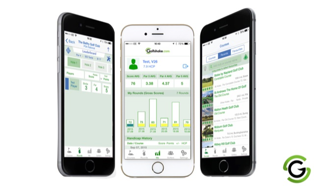 Golfshake iOS app